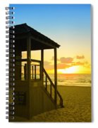 Sunny Sunrise Lifeguard Tower Spiral Notebook