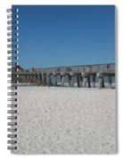 Sunny Day At Naples Pier Spiral Notebook