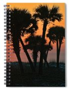 Sunrise And Group Of Palm Trees Spiral Notebook