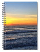 Sunrise And Waves Spiral Notebook