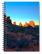 Sunrise At Arches National Park Spiral Notebook