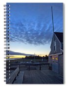 Sunrise At Barnstable Yacht Club Spiral Notebook