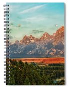 Sunrise At Grand Tetons Spiral Notebook