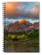 Sunrise At Maroon Bells Spiral Notebook