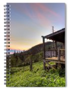 Sunrise At Mt Leconte Spiral Notebook