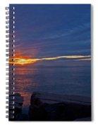 Sunrise At Otter Cliffs Spiral Notebook