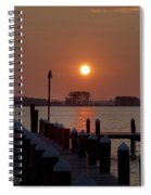 Sunrise At Piney Point Maryland Spiral Notebook