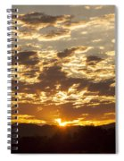 Sunrise At Spirit Lake Sanctuary Lower Lake Ca 20140710 0609 Spiral Notebook