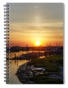 Sunrise At Two Mile Inlet - Wildwood Crest Spiral Notebook