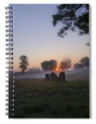 Sunrise At Whitemarsh Spiral Notebook