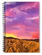 Sunrise At Zabriskie Point Spiral Notebook