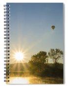 Sunrise Balloon Ride Over Lake Nockamixon Spiral Notebook