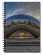 Sunrise Cloud Gate Spiral Notebook
