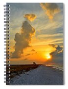 Sunrise Colors Over Navarre Beach With Stormclouds Spiral Notebook