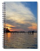 Sunrise Colors With Red Sky At Morning Sailor's Warning Spiral Notebook