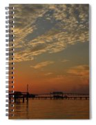 Sunrise Colors With Storms Building On Sound Spiral Notebook