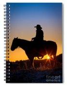 Sunrise Cowboy Spiral Notebook