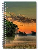 Sunrise Fog Spiral Notebook