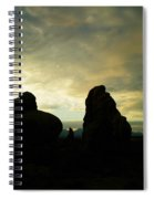 Sunrise In Arches National Park Spiral Notebook