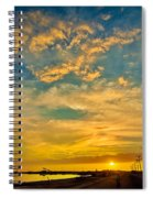 Sunrise In Manaure Colombia Spiral Notebook