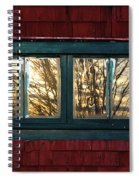 Sunrise In Old Barn Window Spiral Notebook