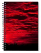 Sunrise In Red Spiral Notebook