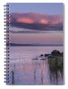 Sunrise Lake Champlain Shore Vermont Clouds Spiral Notebook