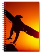 Sunrise Liftoff Golden Eagle Threatened Species Spiral Notebook