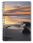 Sunrise On A Beach Near The Port Spiral Notebook