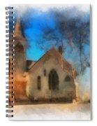 Sunrise On A Rural Church 04 Spiral Notebook