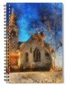 Sunrise On A Rural Church 12 Spiral Notebook
