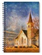 Sunrise On A Rural Church 13 Spiral Notebook