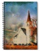 Sunrise On A Rural Church 18 Spiral Notebook