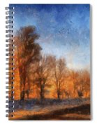 Sunrise On A Rural Country Road Photo Art 02 Spiral Notebook