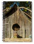 Sunrise On Birdhouse Homestead Spiral Notebook