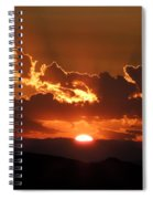 Sunrise On Fire Spiral Notebook