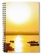 Sunrise On Ganges Spiral Notebook