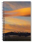 Sunrise On Lenticular Clouds Spiral Notebook