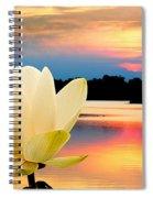 Sunrise On Lotus Lillie Spiral Notebook