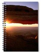 Sunrise On Mesa Arch Spiral Notebook