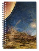Sunrise On Space Spiral Notebook