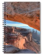 Sunrise On The Edge Spiral Notebook