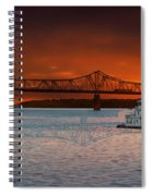 Sunrise On The Illinois River Spiral Notebook