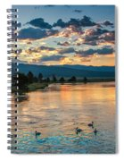 Sunrise On The North Payette River Spiral Notebook
