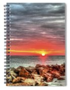 Sunrise Over Breech Inlet On Sullivan's Island Sc Spiral Notebook