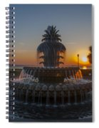 Sunrise Over Downtown Charleston  Spiral Notebook