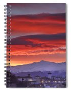 Sunrise Over Granada And The Alhambra Castle Spiral Notebook