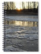 Sunrise Over Ice Spiral Notebook