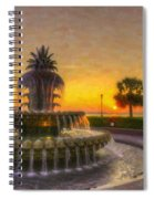 Sunrise Over Pinapple Fountain Spiral Notebook