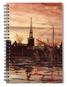 Sunrise Over St Marys Church And Rotherhithe London Spiral Notebook